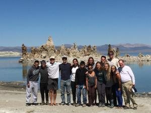 Hydrology students at Mono Lake