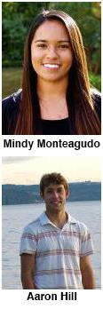 Mindy Monteagudo and Aaron Hill